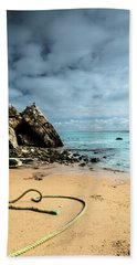 Beach Towel featuring the photograph Attached To The Boat by Edgar Laureano