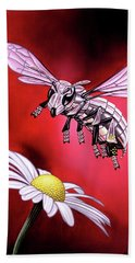 Attack Of The Silver Bee Beach Towel