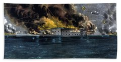 Attack On Fort Sumter Beach Towel