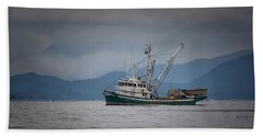 Beach Towel featuring the photograph Attu Off Madrona by Randy Hall