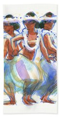Ature Drum Dancers Beach Towel