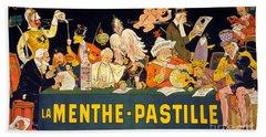Au Tribunal De La Haye La Menthe Pastille Vintage Beach Towel