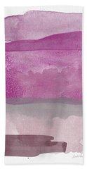 Aubergine Wash- Art By Linda Woods Beach Towel