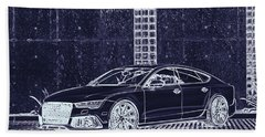 Audi Rs7 Vossen  Beach Towel by PixBreak Art