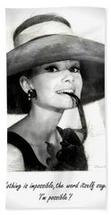 Audrey Hepburn 2 Beach Sheet