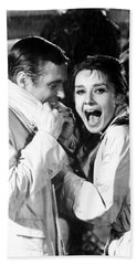 Audrey Hepburn As Holly Golightly Beach Sheet