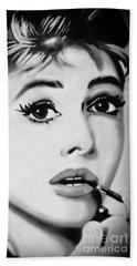 Audrey Hepburn Mural  Beach Sheet by Yurix Sardinelly