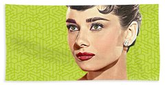 Audrey Hepburn_popart06-3 Beach Towel by Bobbi Freelance