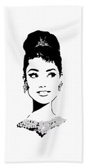 Audrey Beach Towel by Rene Flores