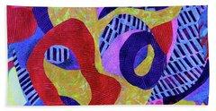 Doo-wop Beach Towel by Polly Castor