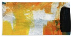 August- Abstract Art By Linda Woods. Beach Towel by Linda Woods