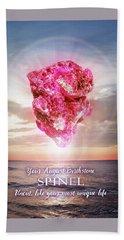 August Birthstone Spinel Beach Sheet by Evie Cook