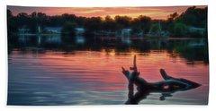 August Sunset Glow Beach Towel