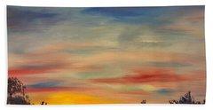 August Sunset In Sw Montana Beach Towel