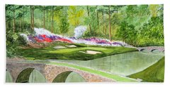 Augusta National Golf Course 12th Hole Beach Sheet
