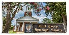 Augusta - Saint Paul's Episcopal  Beach Towel by Stephen Stookey