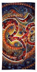 Aum - Vibrations Of Supreme Beach Towel by Harsh Malik