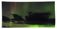 Aurora Activity Iceland Beach Sheet