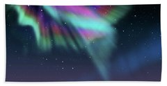 Aurora At Dawn Beach Sheet by Atiketta Sangasaeng