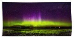 Beach Towel featuring the photograph Aurora Australis by Odille Esmonde-Morgan