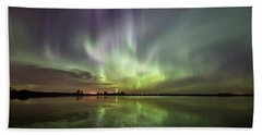Aurora Borealis Beach Sheet