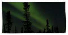 Aurora Borealis The Northern Lights Interior Alaska Beach Towel