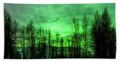 Aurora In The Clouds Beach Towel