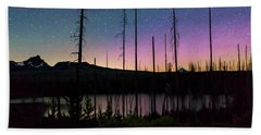 Beach Towel featuring the photograph Aurora Reflections by Cat Connor