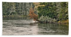 Ausable River 9899 Beach Sheet by Michael Peychich