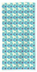 Aussie Dog Pattern Beach Towel