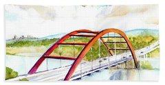 Austin 360 Bridge - Pennybacker Beach Towel