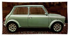Austin Mini Cooper Mixed Media Beach Towel