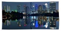 Austin Night Reflection Beach Sheet