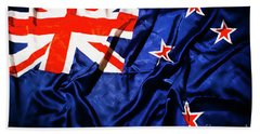 New Zealand Flag Art Beach Towel