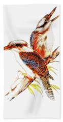 Beach Towel featuring the photograph Australian Kookaburra 666 by Kevin Chippindall