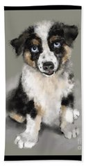 Australian Shepherd Pup Beach Sheet