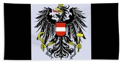 Beach Towel featuring the drawing Austria Coat Of Arms by Movie Poster Prints