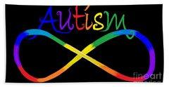 Autism Infinity Spectrum Beach Towel