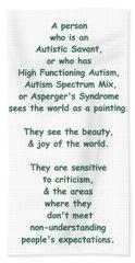 Autism Torture Beach Towel