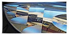 Auto Headlight 193 Beach Towel by Sarah Loft