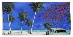 Auto Sulla Spiaggia Beach Towel