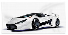 Beach Sheet featuring the drawing Automobili Lamborghini Concept by Brian Gibbs
