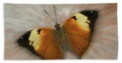 Autumn Leaf Butterfly Zoom Beach Towel