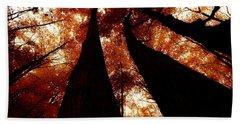 Autumn Canopy Abstract Beach Sheet