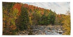 Autumn Adirondack Angling Beach Sheet