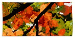 Autumn Ablaze Beach Towel