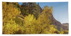 Autumn Along Kolob Creek Beach Towel