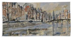 Autumn Along The Amstel In Amsterdam Beach Towel