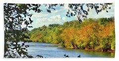 Autumn Along The New River - Bisset Park - Radford Virginia Beach Sheet