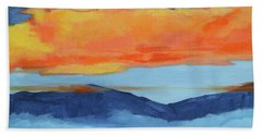 Autumn Alpenglow Beach Sheet